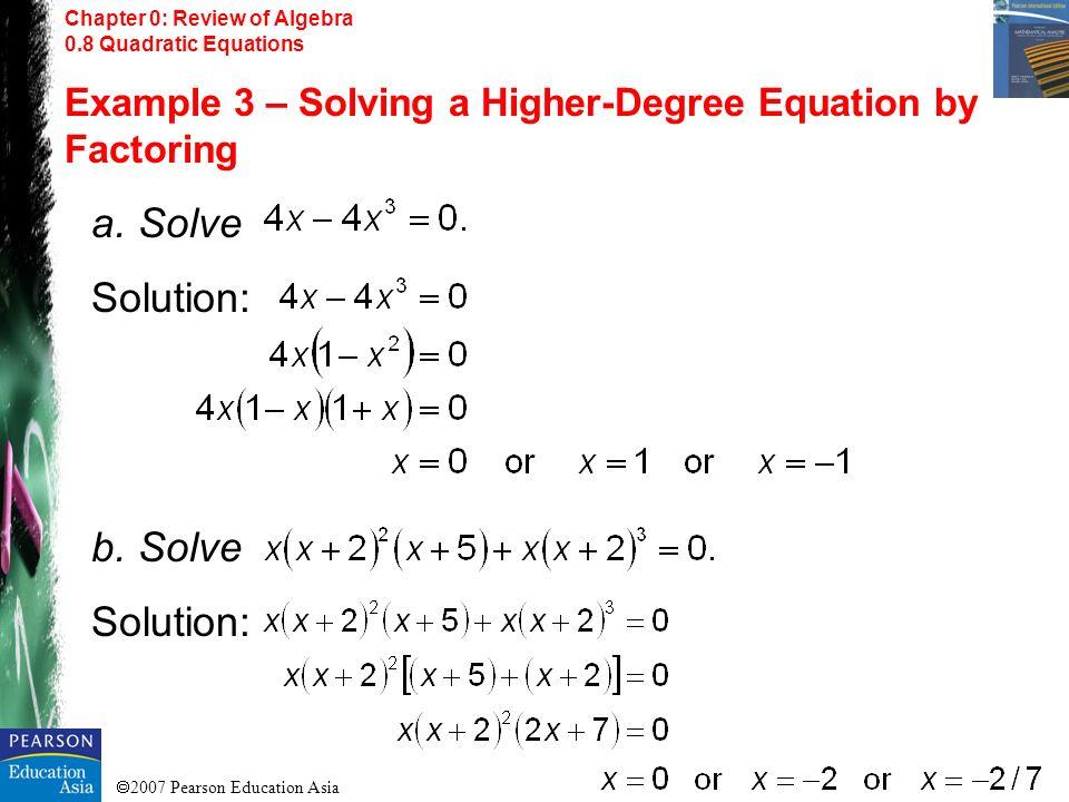 a. Solve Solution: b. Solve