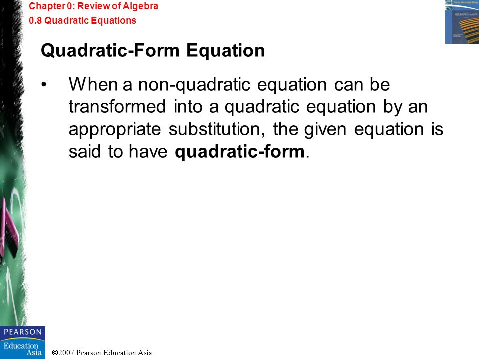 Quadratic-Form Equation