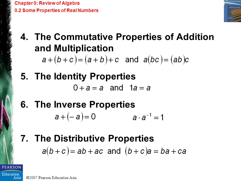 The Commutative Properties of Addition and Multiplication