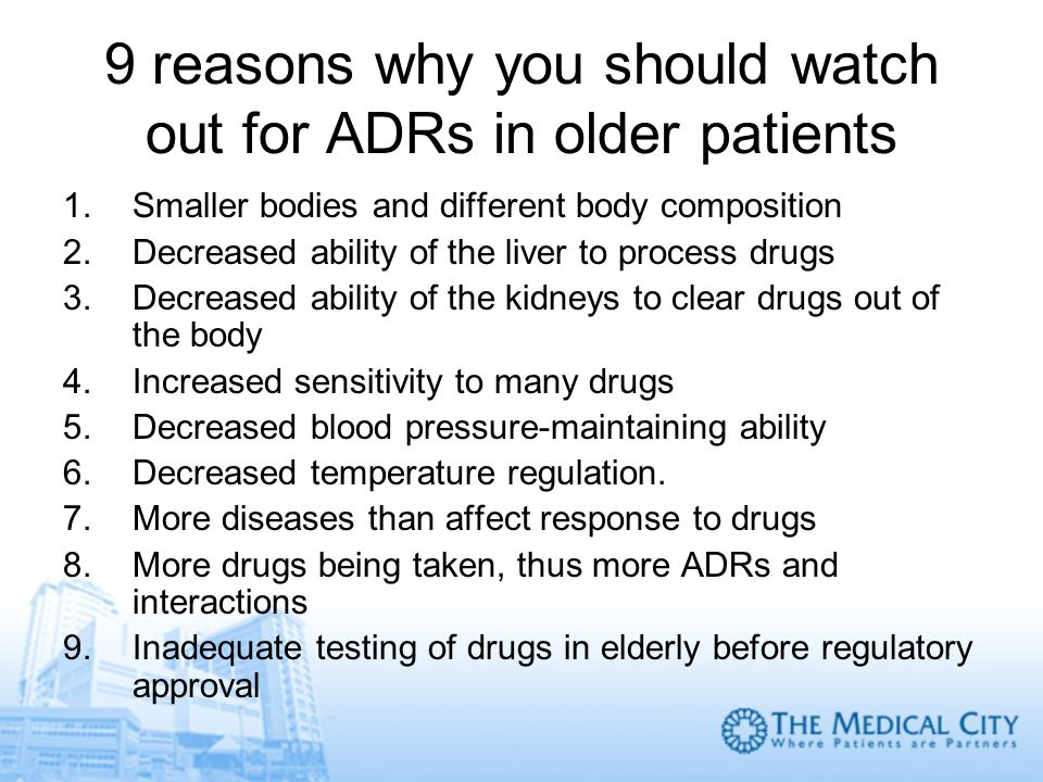 9 reasons why you should watch out for ADRs in older patients