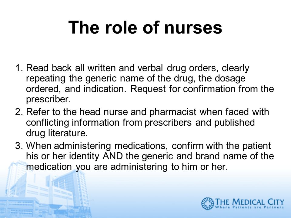 The role of nurses