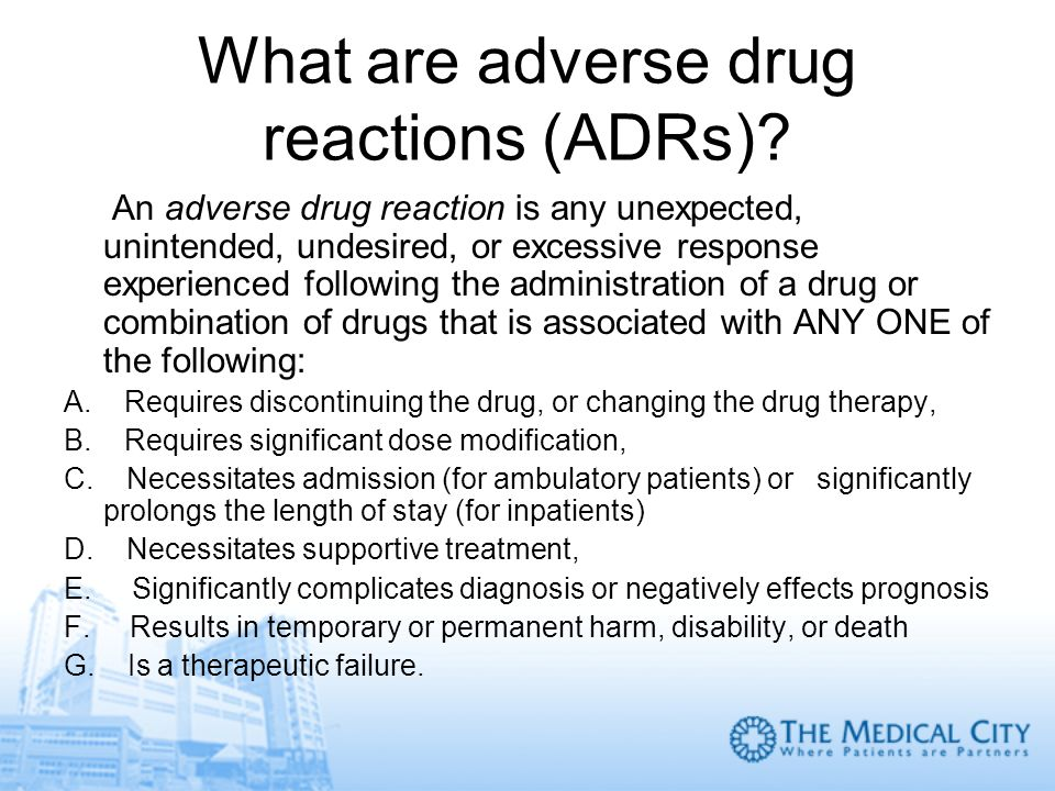 What are adverse drug reactions (ADRs)