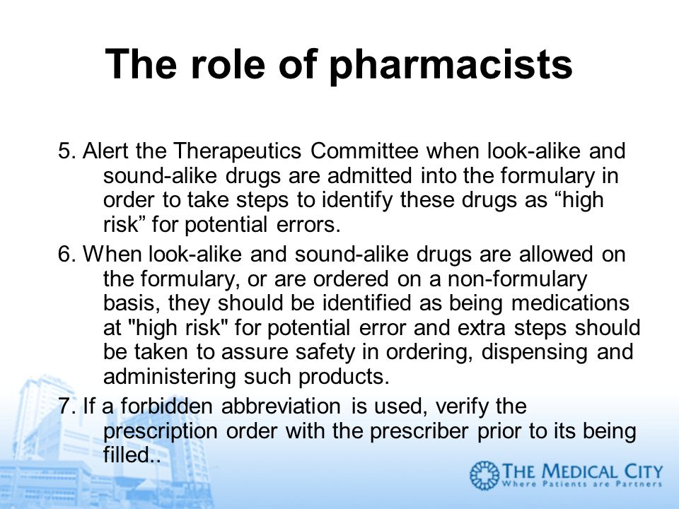 The role of pharmacists