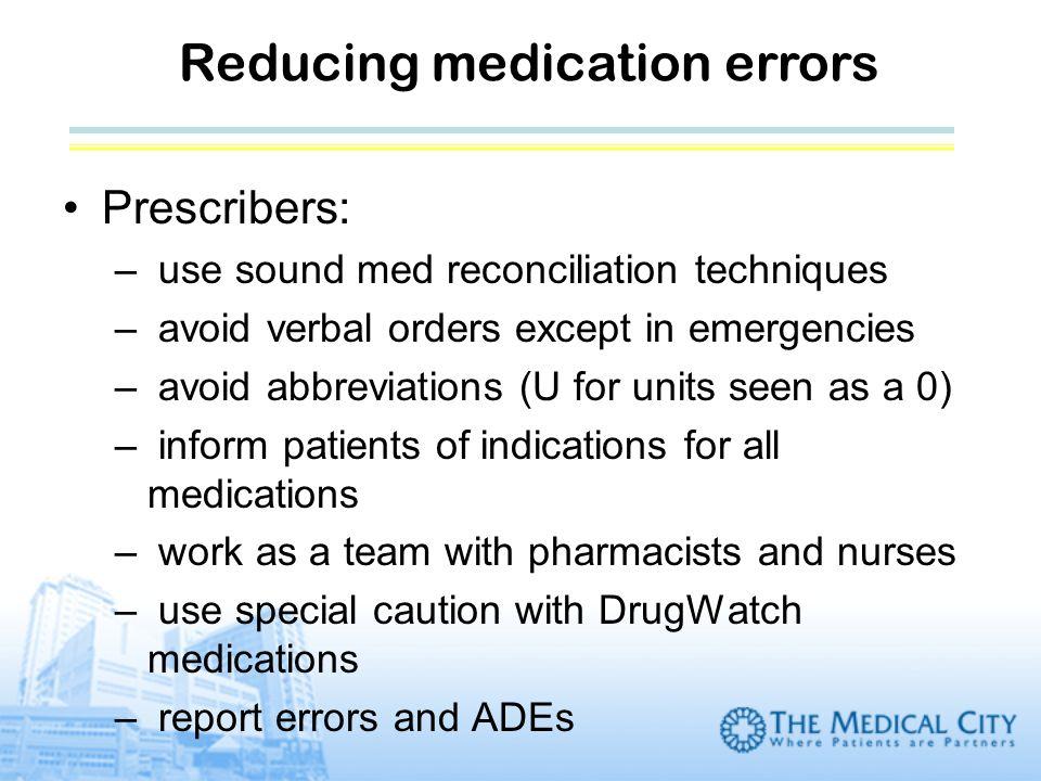 Reducing medication errors