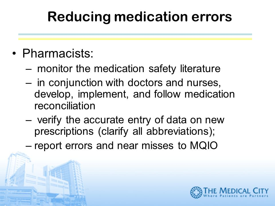 Reducing medication errors