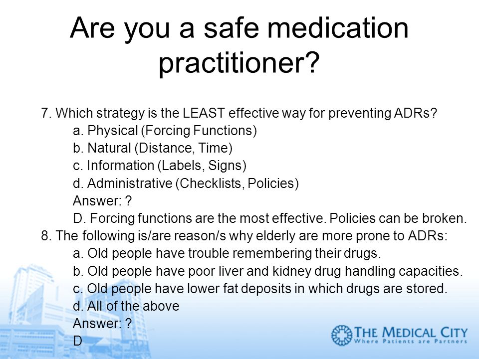 Are you a safe medication practitioner