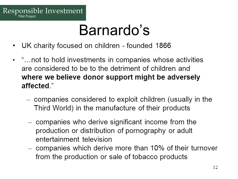 Barnardo's UK charity focused on children - founded 1866
