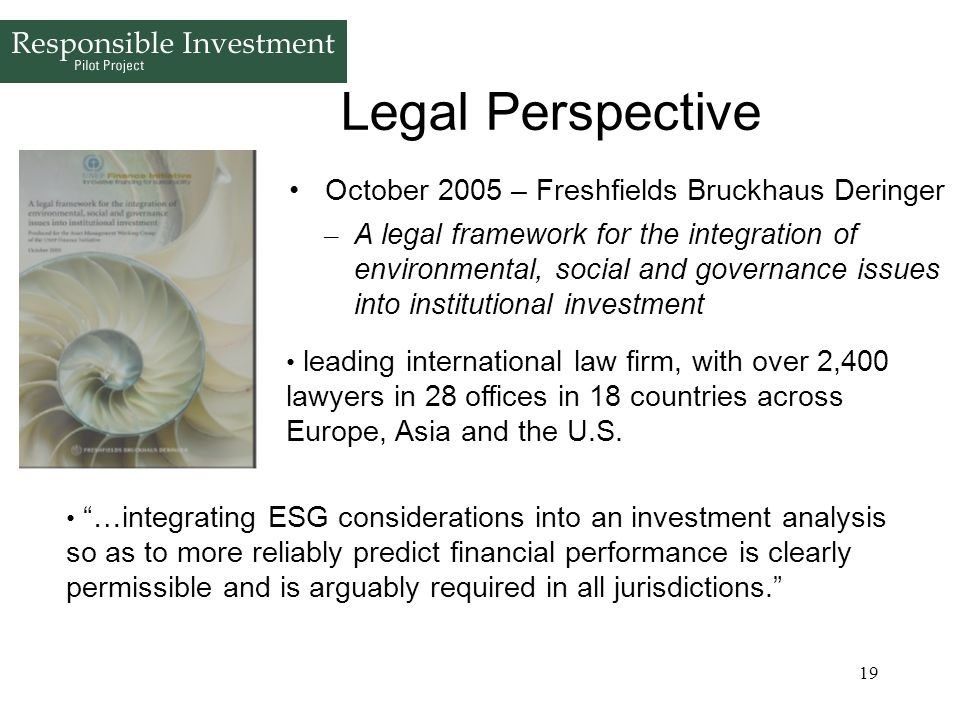 Legal Perspective October 2005 – Freshfields Bruckhaus Deringer
