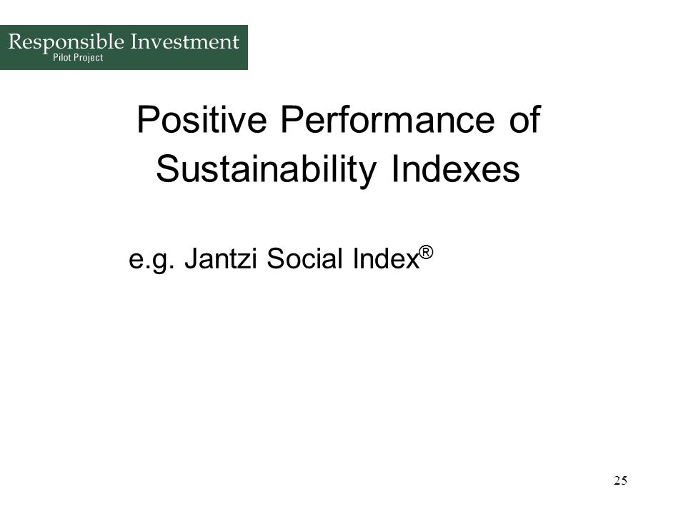 Positive Performance of Sustainability Indexes
