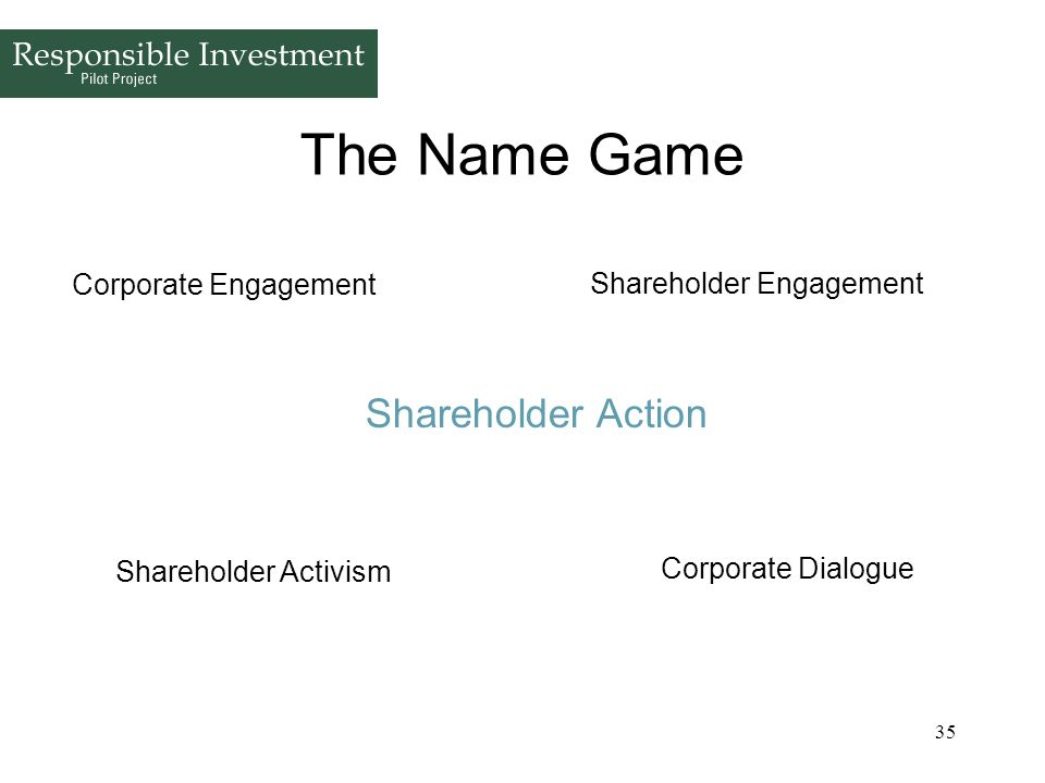The Name Game Shareholder Action Corporate Engagement