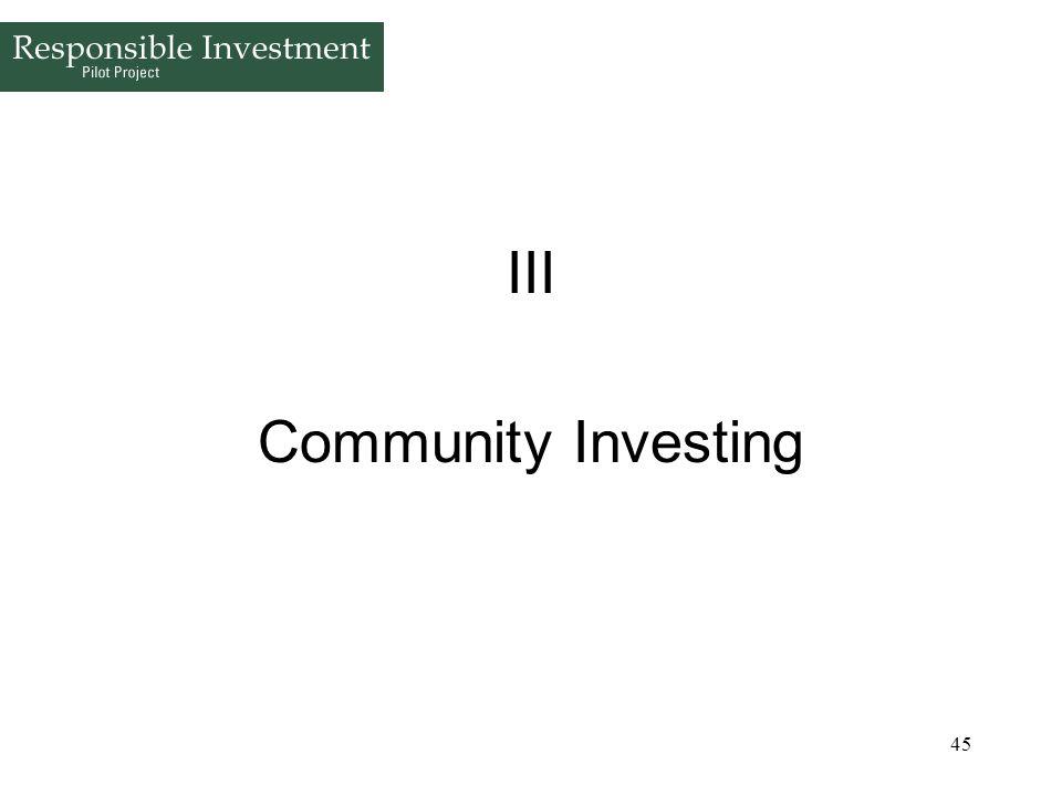 III Community Investing