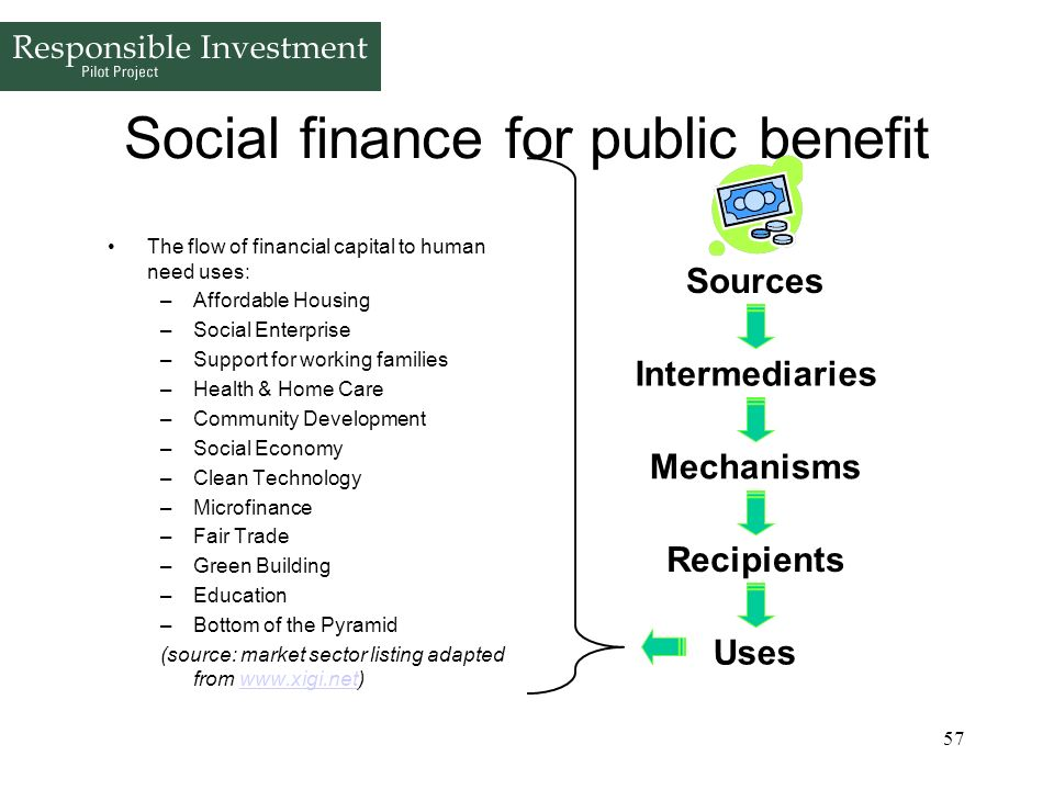 Social finance for public benefit