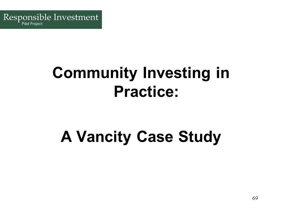 Community Investing in Practice: