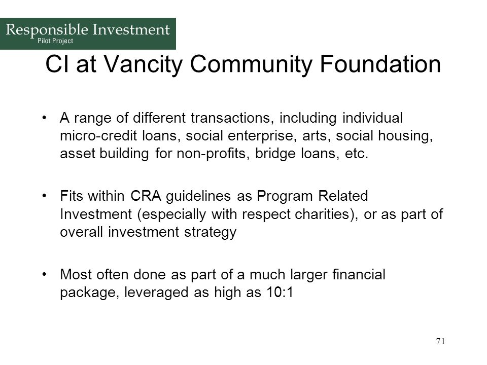 CI at Vancity Community Foundation