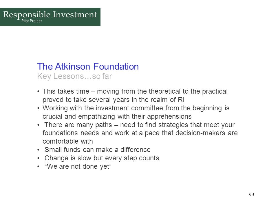The Atkinson Foundation