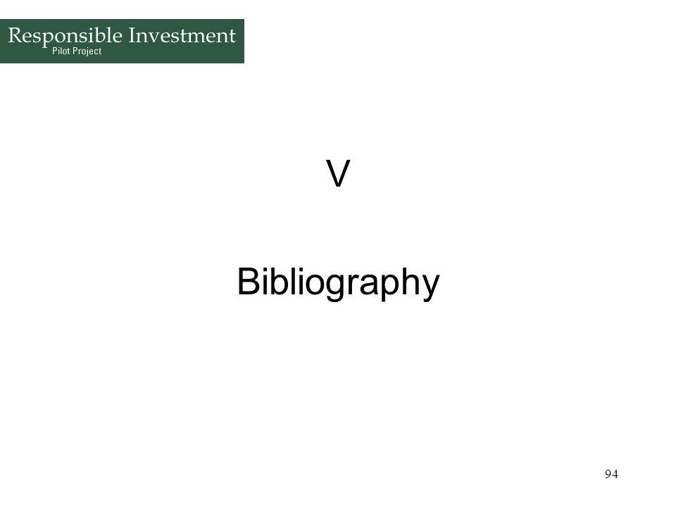 V Bibliography