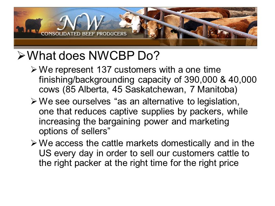 What does NWCBP Do