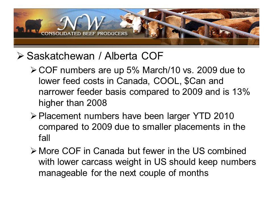Saskatchewan / Alberta COF