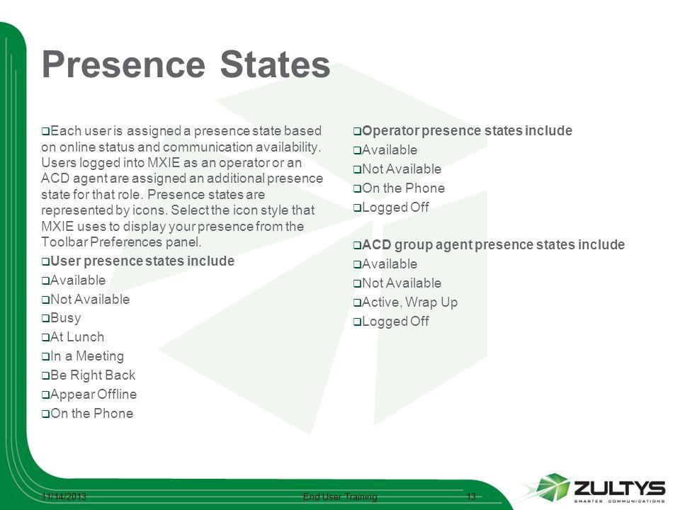 Presence States