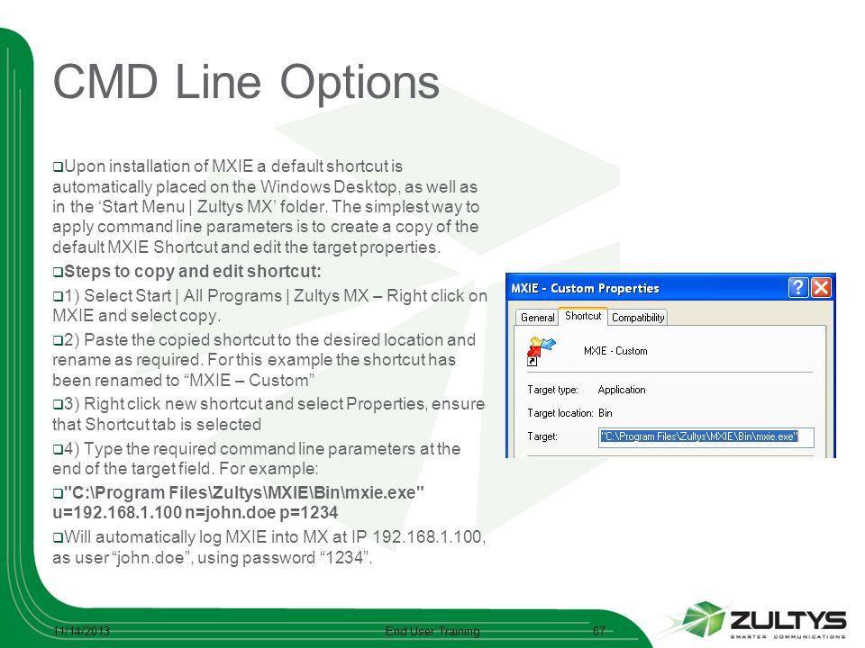 CMD Line Options