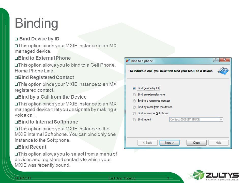 Binding Bind Device by ID