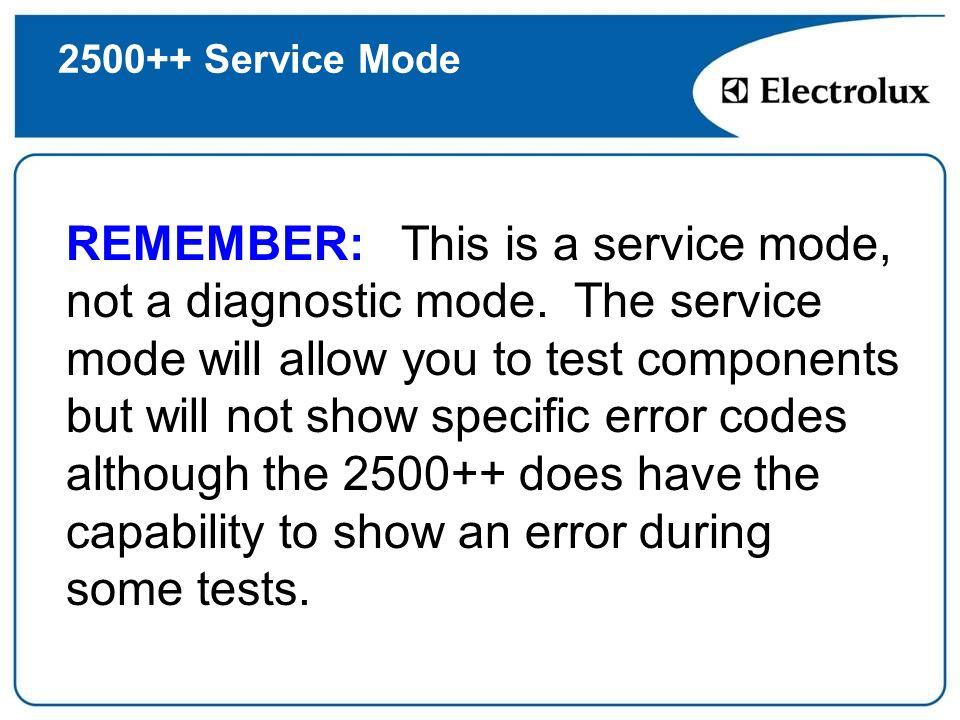 2500++ Service Mode