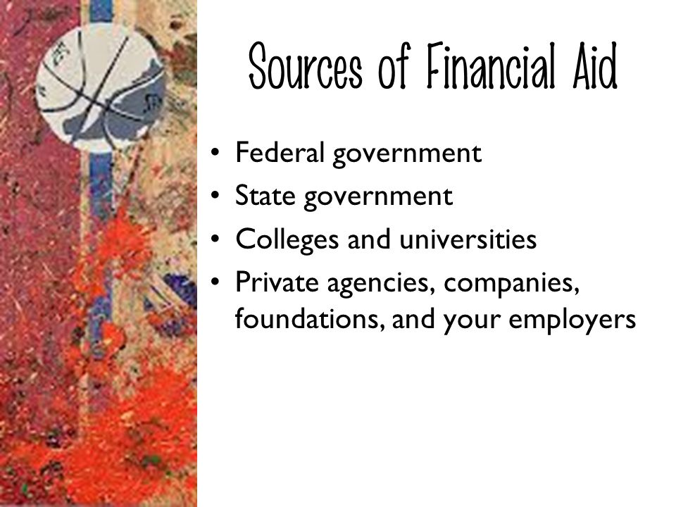 Sources of Financial Aid