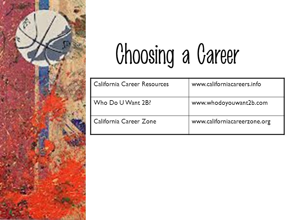 Choosing a Career California Career Resources