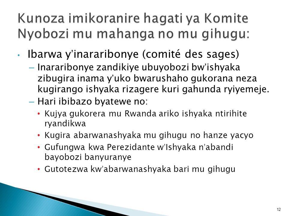 Kunoza imikoranire hagati ya Komite Nyobozi mu mahanga no mu gihugu: