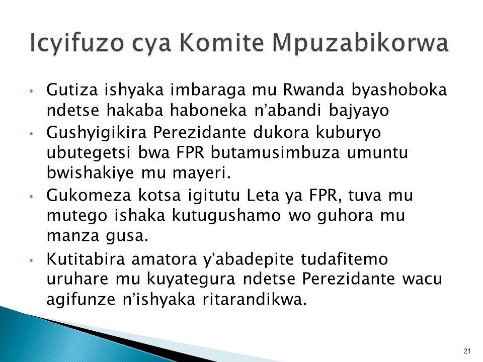 Icyifuzo cya Komite Mpuzabikorwa