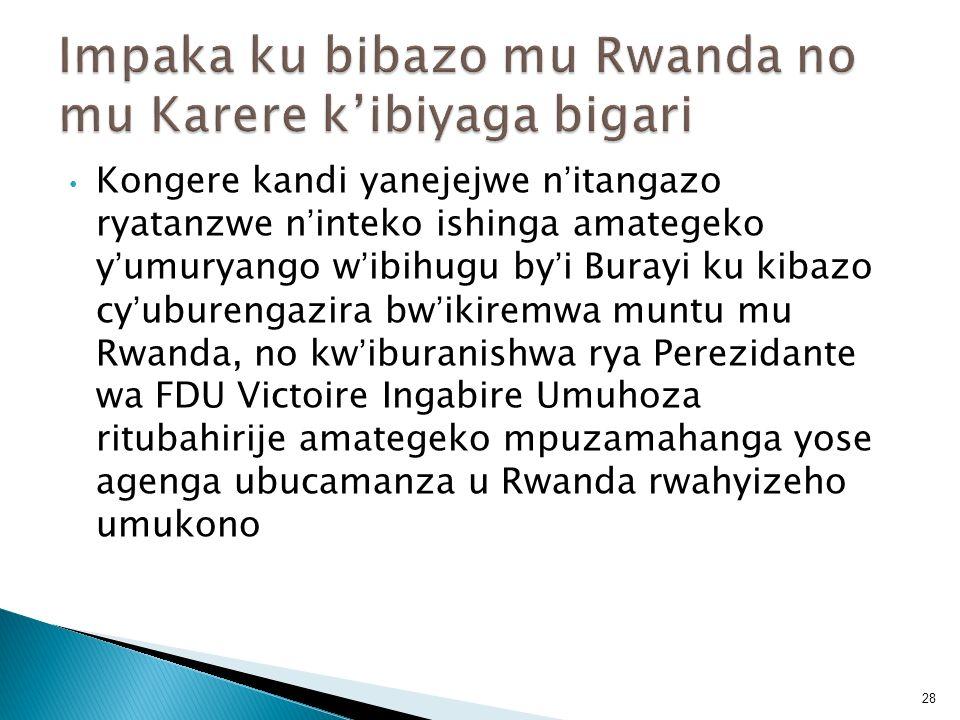 Impaka ku bibazo mu Rwanda no mu Karere k'ibiyaga bigari