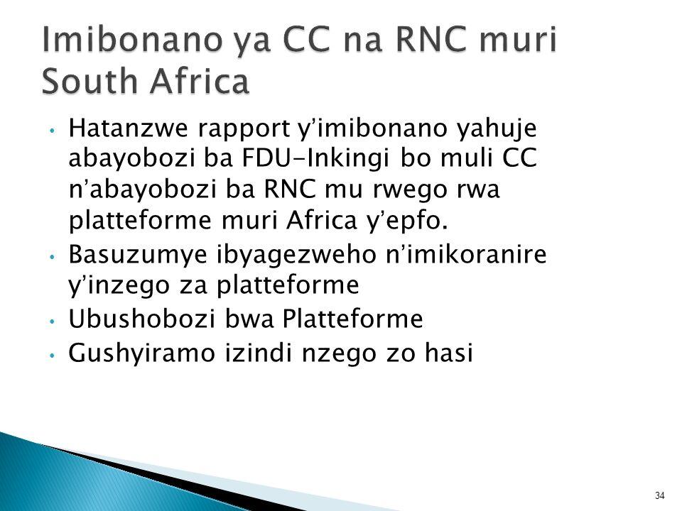 Imibonano ya CC na RNC muri South Africa