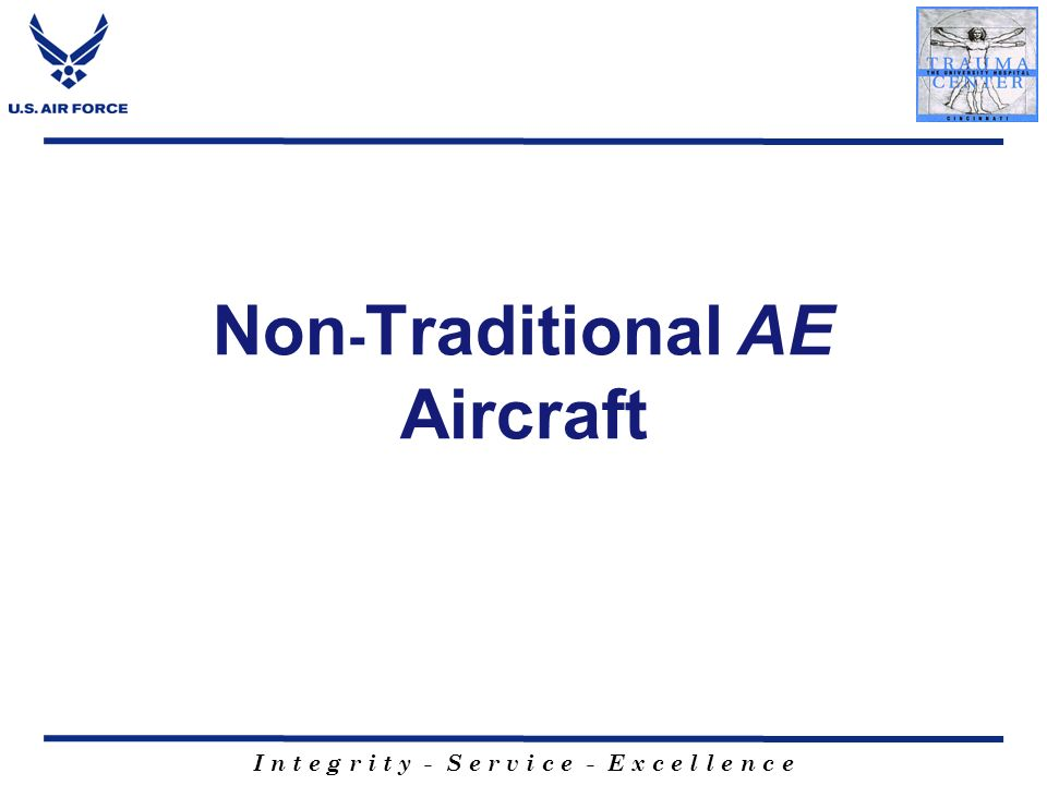 Non-Traditional AE Aircraft