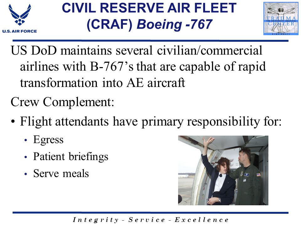 CIVIL RESERVE AIR FLEET (CRAF) Boeing -767