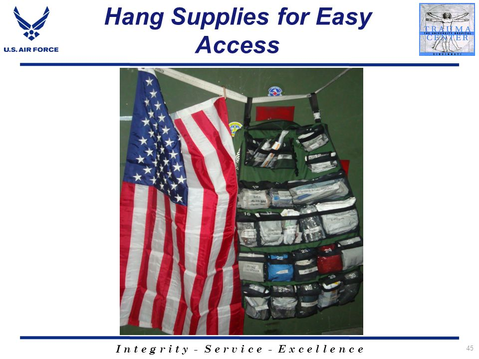 Hang Supplies for Easy Access