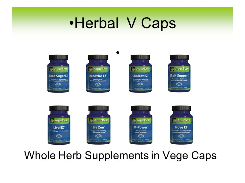 Whole Herb Supplements in Vege Caps