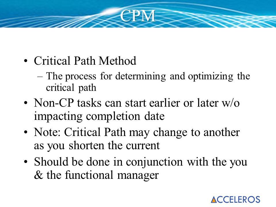 CPM Critical Path Method