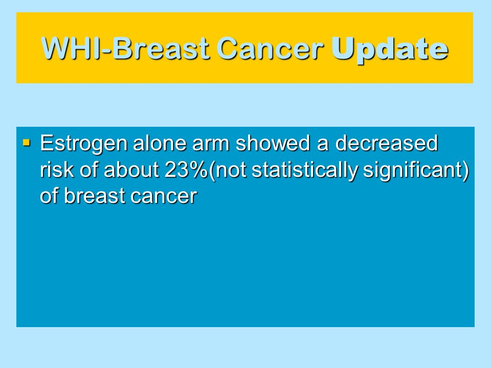 WHI-Breast Cancer Update
