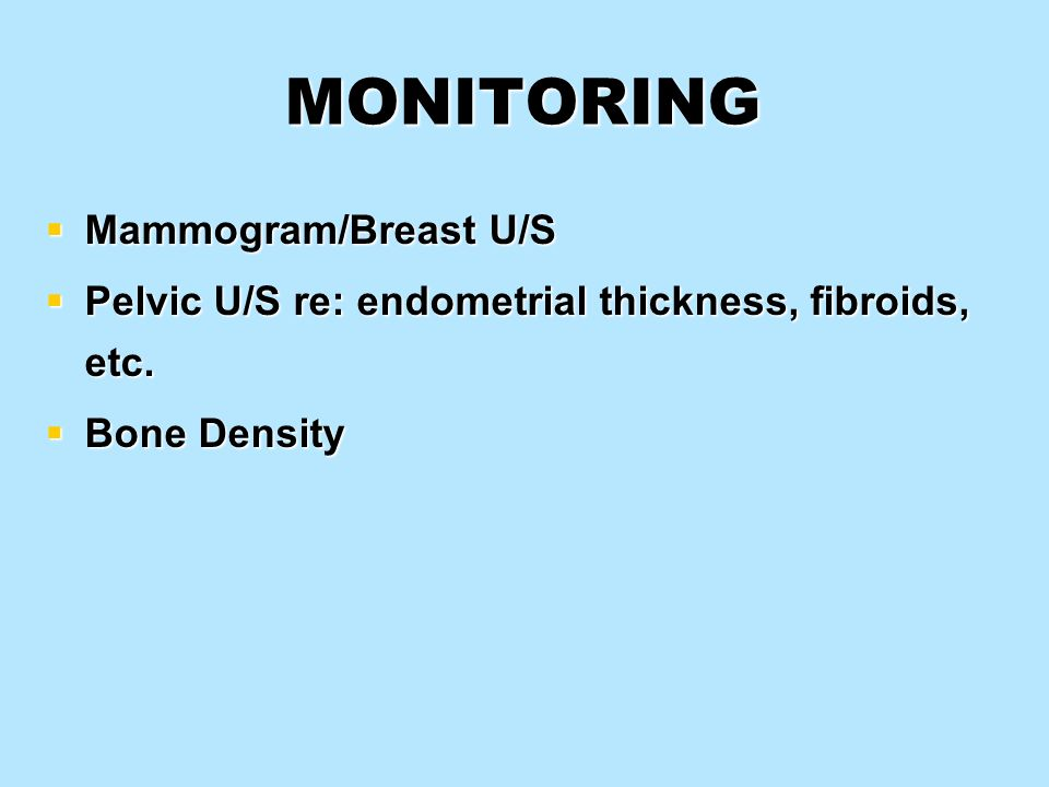 MONITORING Mammogram/Breast U/S