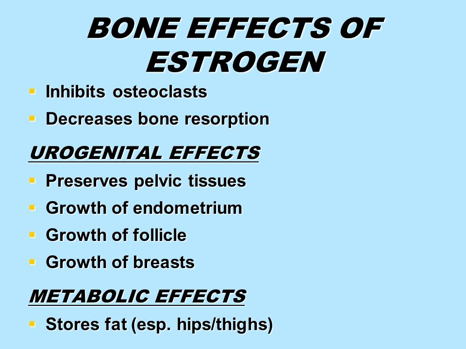 BONE EFFECTS OF ESTROGEN