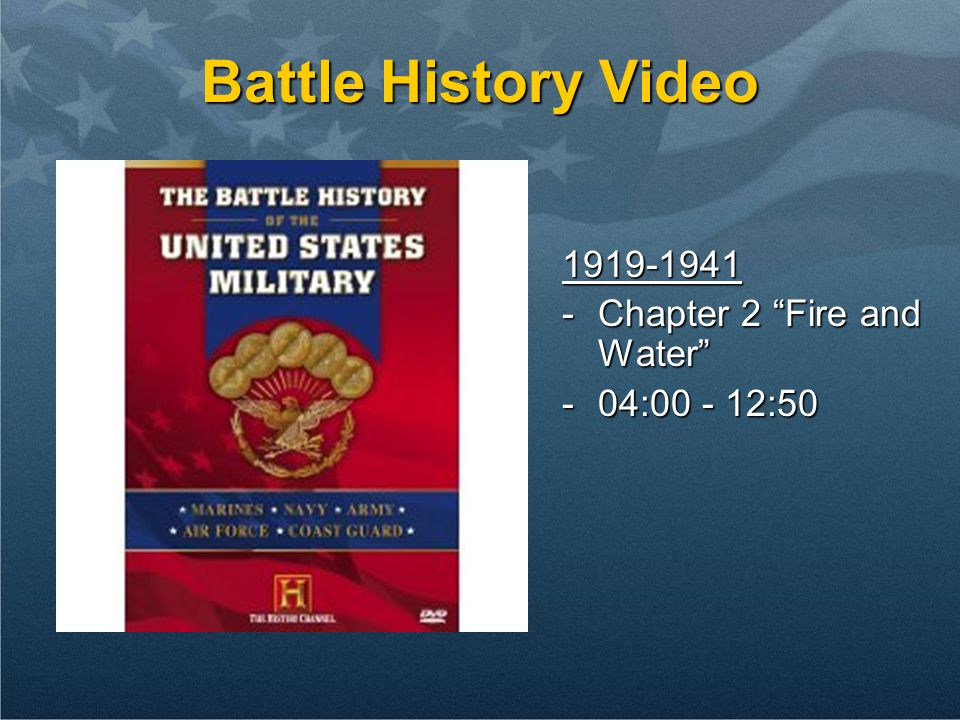 Battle History Video 1919-1941 Chapter 2 Fire and Water