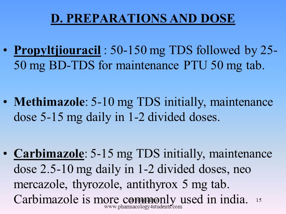 D. PREPARATIONS AND DOSE