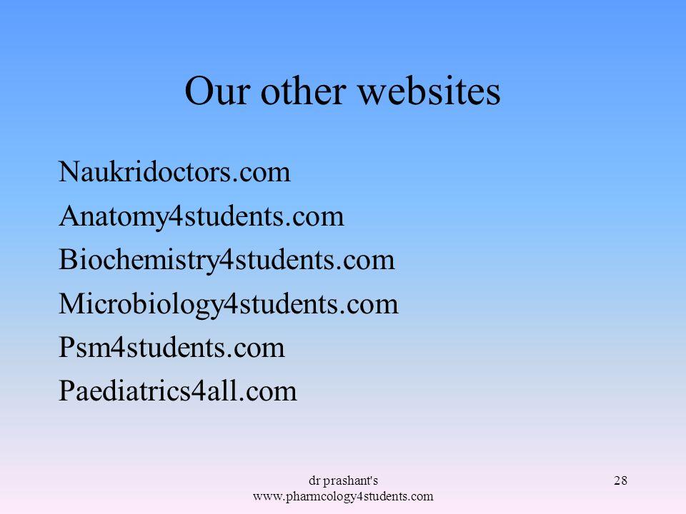 dr prashant s www.pharmcology4students.com