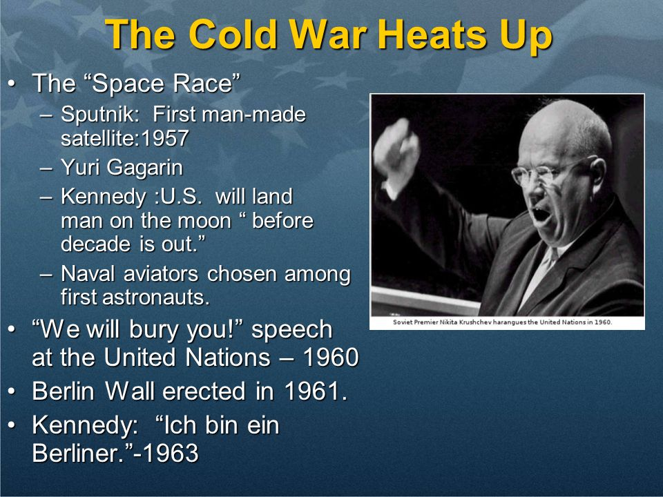 The Cold War Heats Up The Space Race