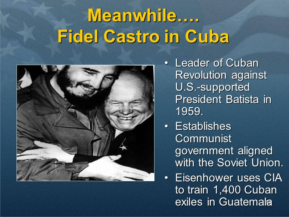 Meanwhile…. Fidel Castro in Cuba