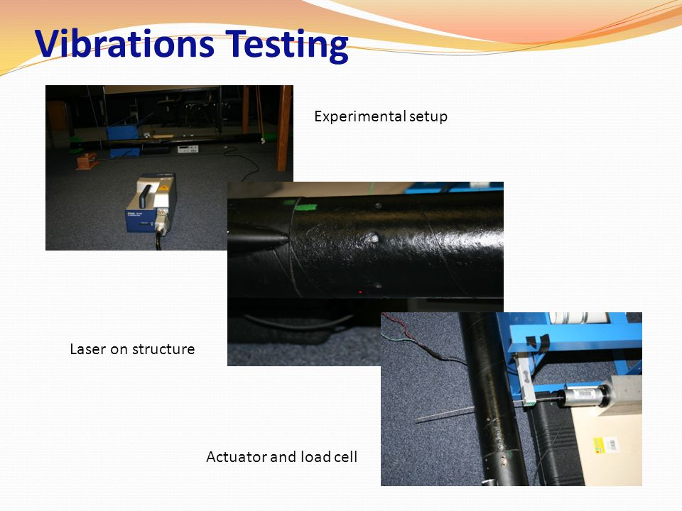 Vibrations Testing Experimental setup Laser on structure