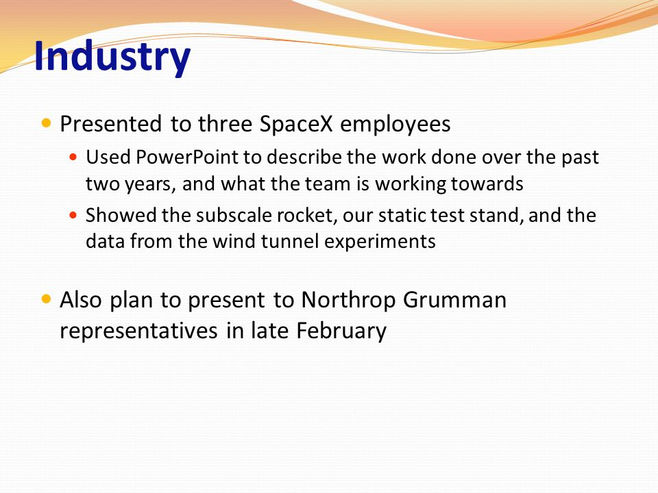 Industry Presented to three SpaceX employees