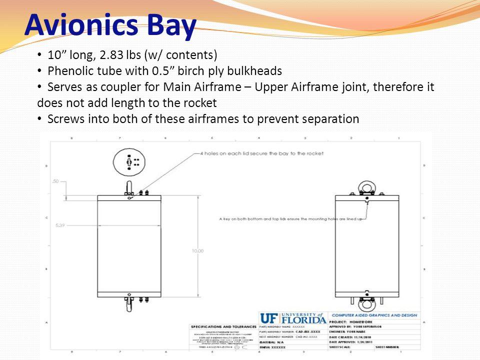 Avionics Bay 10 long, 2.83 lbs (w/ contents)