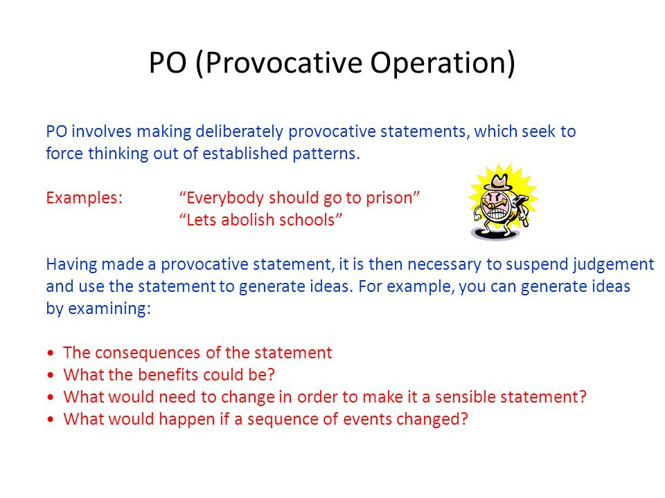 PO (Provocative Operation)