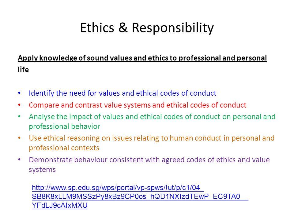 Ethics & Responsibility
